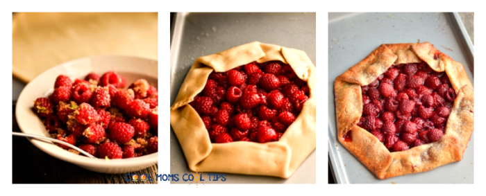 Easy Raspberry Galette process