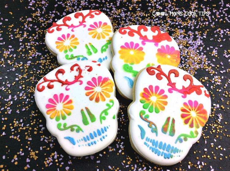 delicious sugar skull decorated cookies