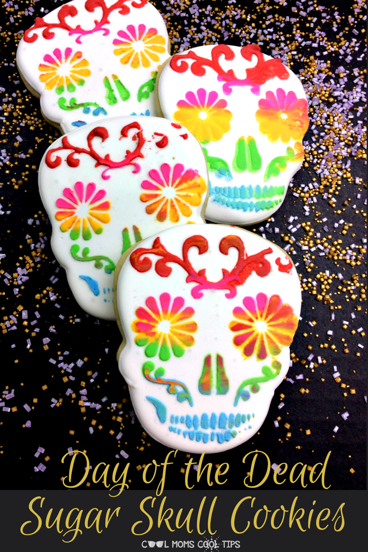 ready to celebrate the day of the dead? Want to celebrate family? We have delicious decorated sugar skull cookies you can make to honor family and enjoy together. Here is how to make decorated sugar skull cookies.
