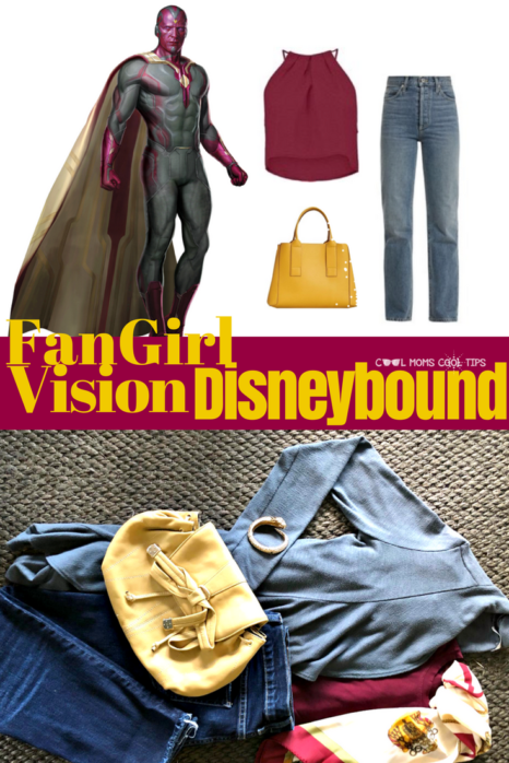 Ready to Disneybound Marvel Vision? Put together an easy outfit that every fangirl would love to use because of its breezy, easy, cool and comfortable style. Great OOTD to show your MCU fandom!