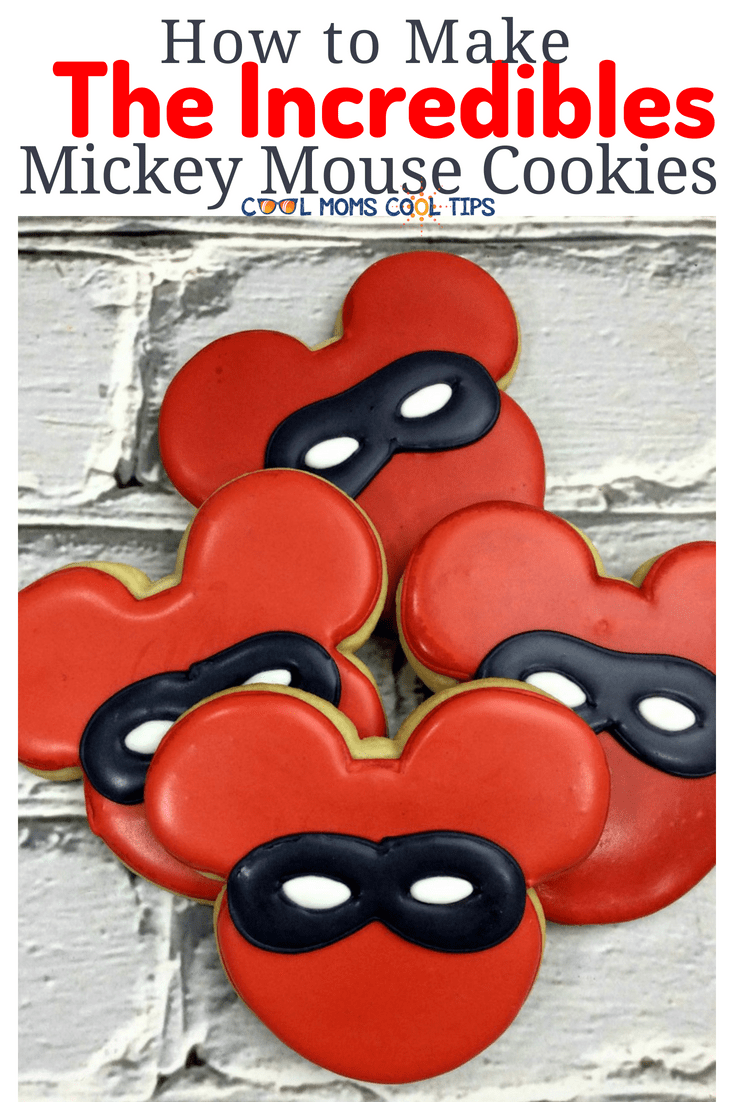 Have a The Incredibles themed party? Ready to for a family movie night with The Incredibles? We tell you step by step how to make delicious and adorable The Incredibles Mickey Mouse Cookies!