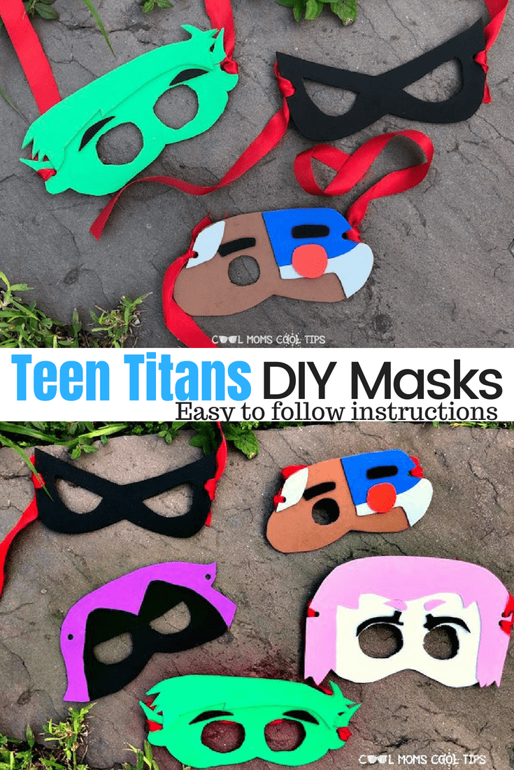 have a teen titans fan? want to have a teen titans play date or party? We have the easy craft masks for you!! We tell you how to DIY Teen Titans masks!