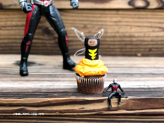 Marvel's the wasp easy cupcake topper diy cool moms cool tips