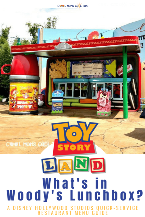 want to know what food is available at disney hollywood studios toy story land quick service restaurant? We tell you what you will find in Woody's LunchBox menu
