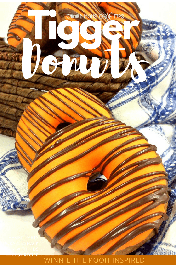 need the perfect treat? make these delicious bouncy bouncy tiggerific Tigger donuts! Tigger doughnuts are Winnie The Pooh inspired and 100% mom and kid tested and approved for every occasion!