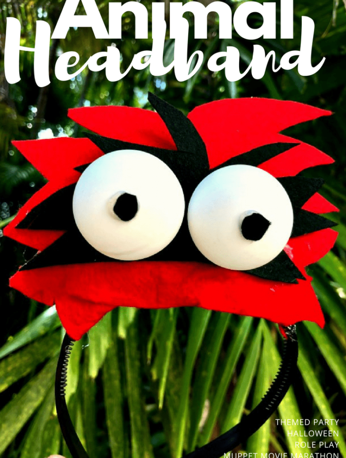 need muppets ears? want to make some muppets inspired headbands? we have and easy and fun step by step Animal Headband DIY for you!