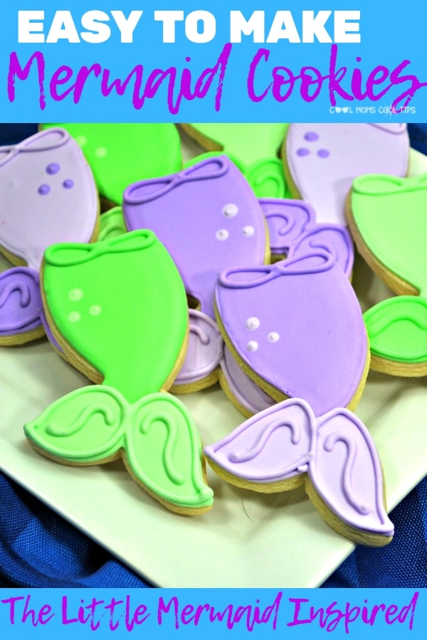 how to make the little mermaid cookies