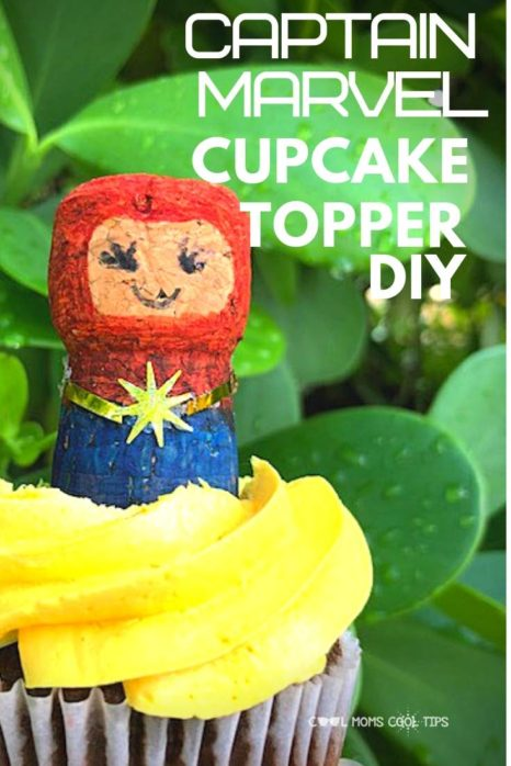 CAPTAIN-MARVEL-CUPCAKE-TOPPER-DIY-COOL-MOMS-COOL-TIPS