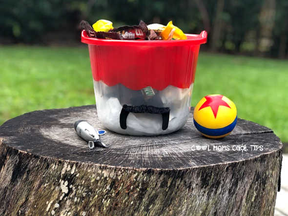 DIY Duke Caboom Toy Story Candy Bucket