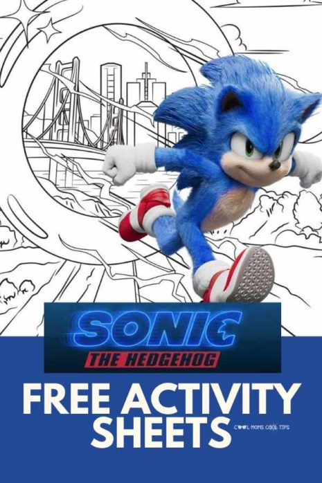 Free Sonic The Hedgehog Movie Activity Sheets Cool Moms Cool Tips
