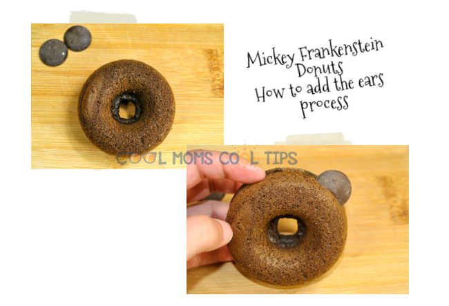 Frankenstein donuts add the ears directions