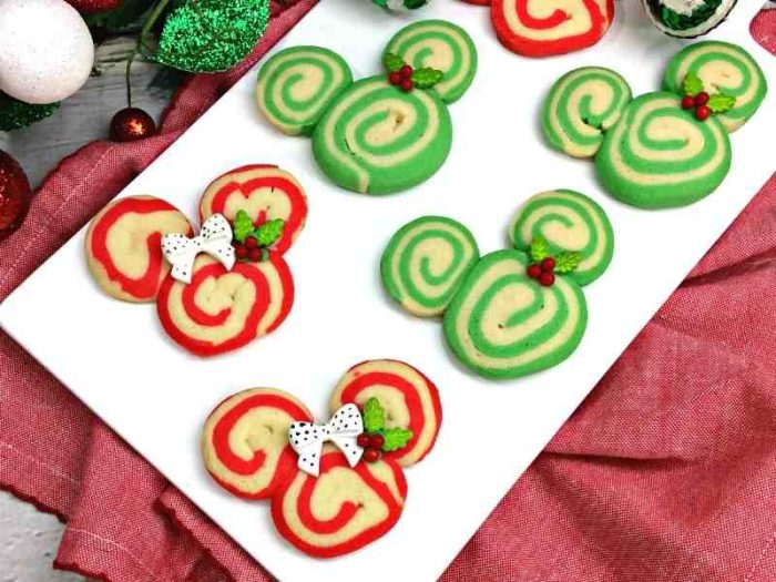 Festive Mickey Holiday Swirl Cookies Recipe