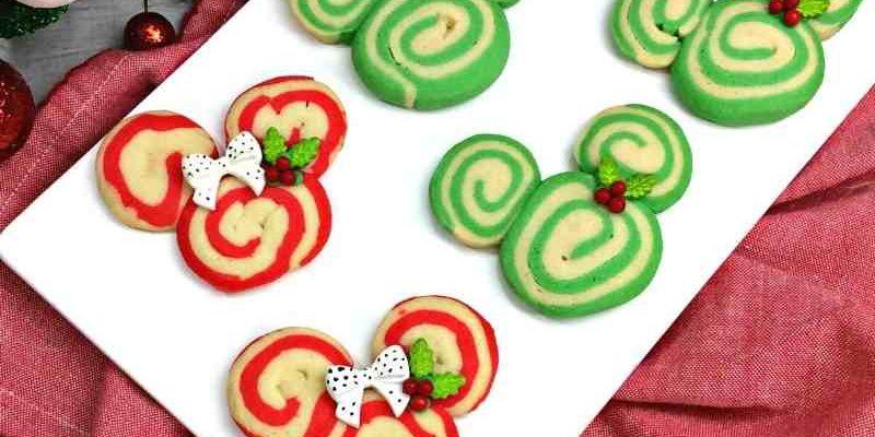 Festive Mickey Holiday Swirl Cookies Recipe