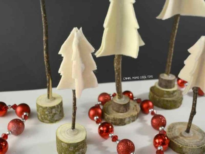 DIY Rustic Christmas Tree decor cool-moms-cool-tips