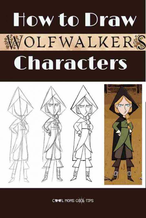 Draw WolfWalkers Robyn & Mebh