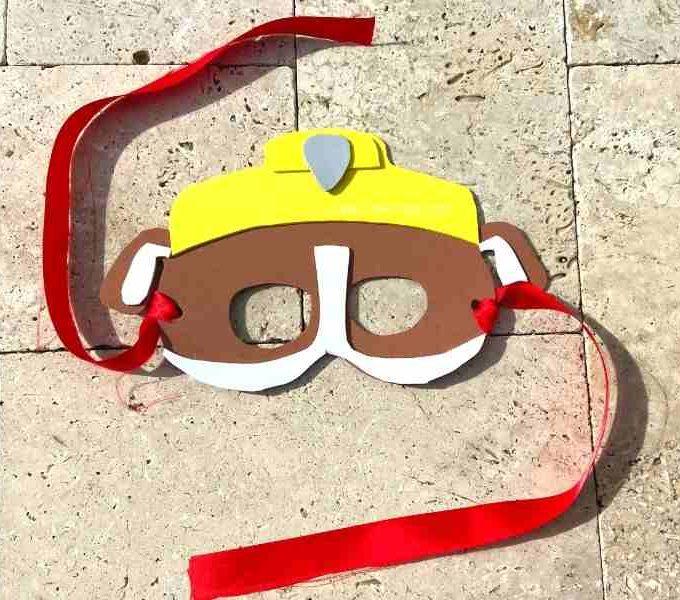 DIY Paw Patrol Rubble Mask
