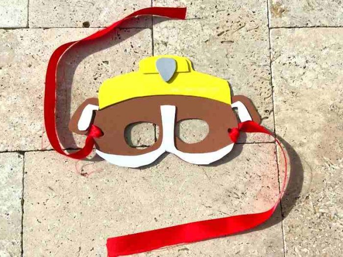 DIY Paw Patrol Rubble Mask