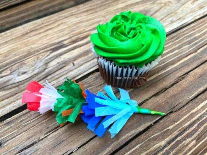 DIY Fringe Cupcake Topper