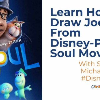 How to draw Joe from disney pixar soul movie cool moms cool tips